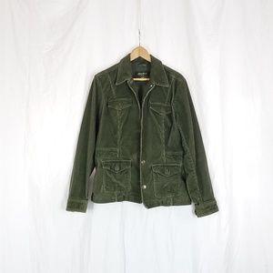 Eddie Bauer green corduroy jacket size L